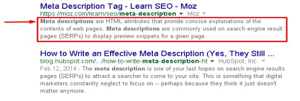 compelling meta description