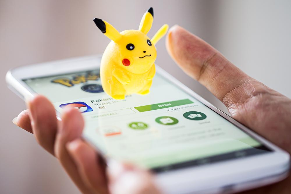 Pokemon Go with Pokemon branding