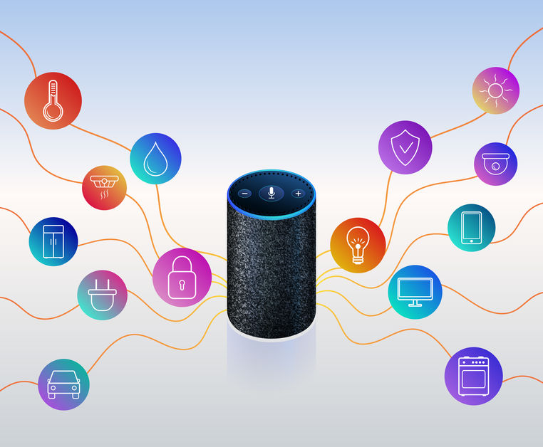 Amazon Echo, Smart Speaker, Voice Recognition Device to Search Key Terms, Personalization of User Experience