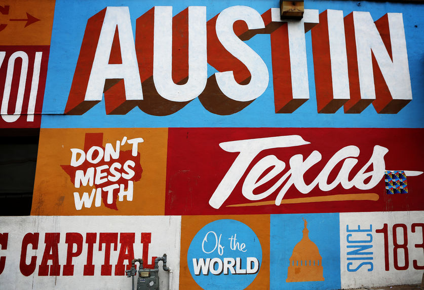 austin texas, austin mural, capital of texas, SXSW, visitors of austin